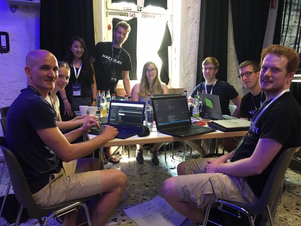 our hackbay 2019 team at work