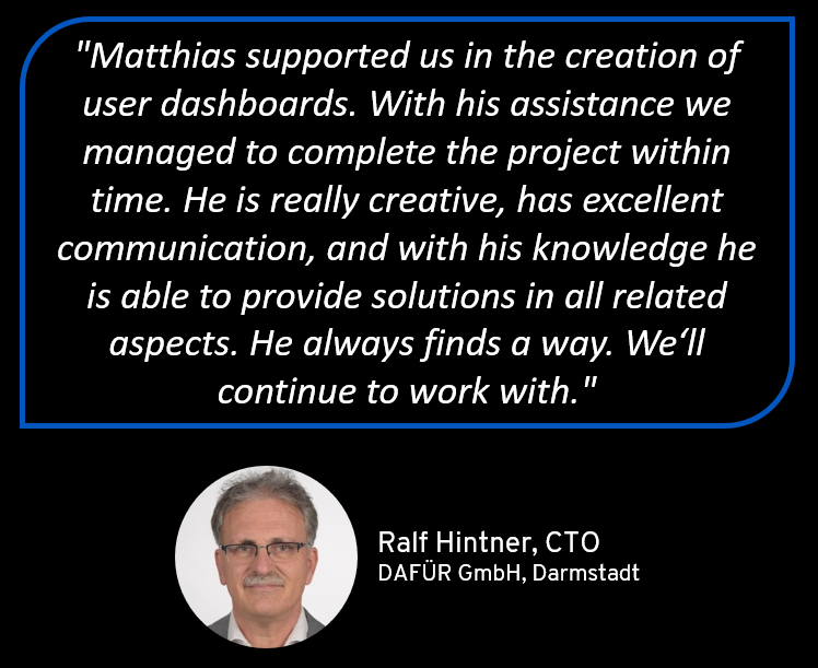 Reference for Matthias Seidl from Dafür GmbH