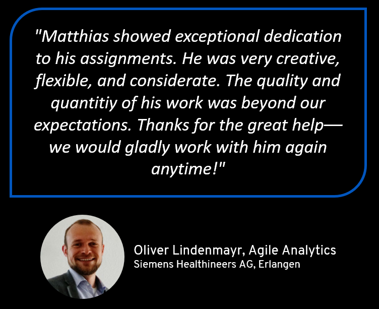 Reference for Matthias Seidl from Siemens Healthineers