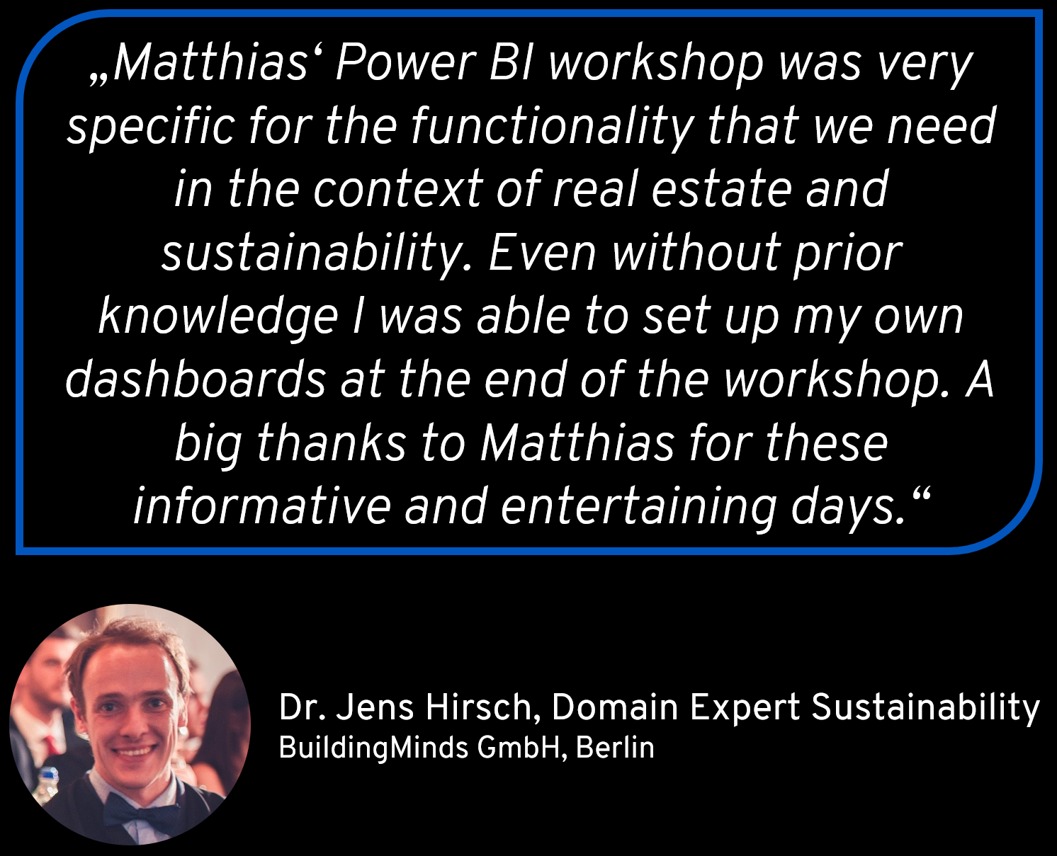 Reference for Matthias Seidl from BuildingMinds